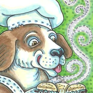 Art: BURGER HOUND by Artist Susan Brack