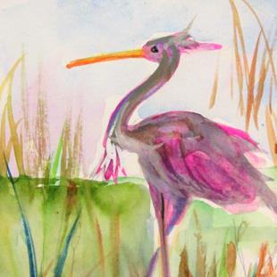 Art: Heron No.7 by Artist Delilah Smith