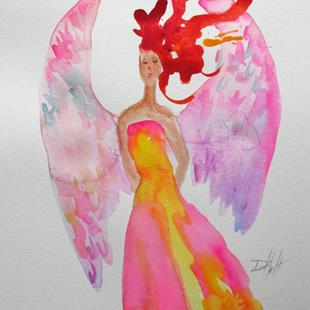 Art: Red Hair Angel by Artist Delilah Smith
