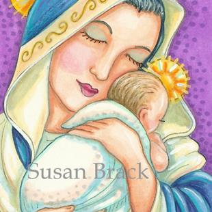 Art: MARY AND BABY JESUS by Artist Susan Brack