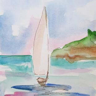 Art: Sailboat No. 15 by Artist Delilah Smith