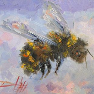 Art: Fuzzy Bee by Artist Delilah Smith