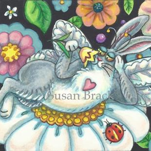 Art: FLUTTERBUN - SPRING INTOXICATION by Artist Susan Brack