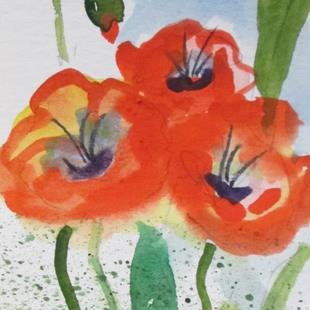 Art: Poppies No. 13 by Artist Delilah Smith