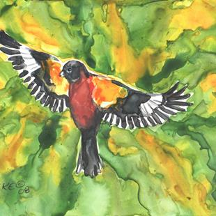 Art: Black-Headed Grosbeak 2 by Artist Melinda Dalke