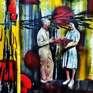 Art: Dennis Met Agnes When That Whole Poppy Commemorate the War Thing Started by Artist Vicky Helms