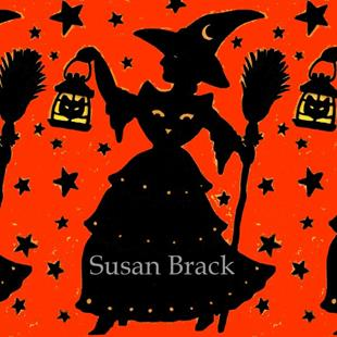 Art: WITCH AND LANTERN #3 ORANGE Repeat by Artist Susan Brack