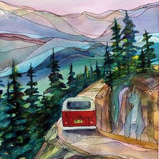 Art: Adventuring (sold) by Artist Kathy Crawshay