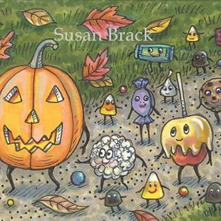 Art: TRICK OR TREAT PARADE by Artist Susan Brack