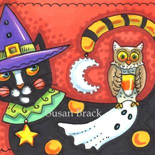 Art: BOO KAT AND FRIENDS by Artist Susan Brack