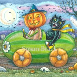 Art: HALLOWEEN TRAVELERS by Artist Susan Brack