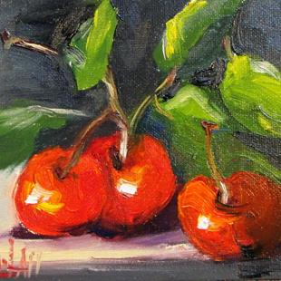 Art: Cherries by Artist Delilah Smith