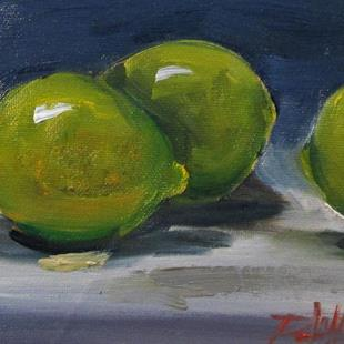 Art: Three Limes-sold by Artist Delilah Smith