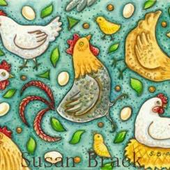 Art: TOSSED CHICKENS by Artist Susan Brack