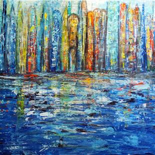 Art: The Blue City. by Artist LUIZA VIZOLI