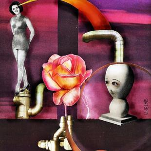 Art: Stokin' the Rose by Artist Vicky Helms