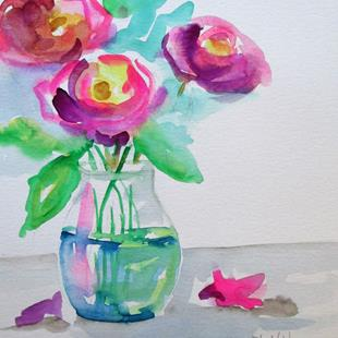 Art: Vase of Roses No. 4 by Artist Delilah Smith