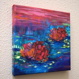 Art: Evening Song- Water Lilies series by Artist Dana Marie