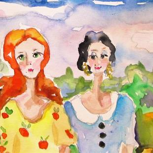 Art: Sisters No. 3-sold by Artist Delilah Smith