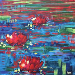 Art: Eventide Splendor - Water Lilies series by Artist Dana Marie