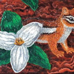 Art: Spring Chippy by Artist Jackie K. Hixon