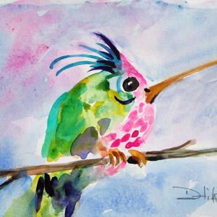 Art: Pink Belled Hummingbird by Artist Delilah Smith