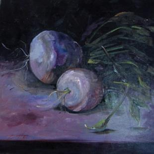Art: Turnip Still Life No.2 by Artist Delilah Smith