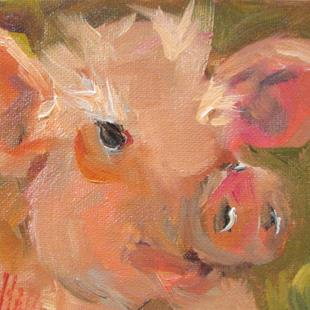 Art: Little Pig No. 3 by Artist Delilah Smith