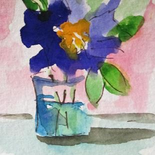 Art: Purple Flower Still Life by Artist Delilah Smith
