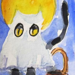Art: Ghost Cat by Artist Delilah Smith