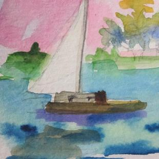 Art: Sailboat No. 16 by Artist Delilah Smith