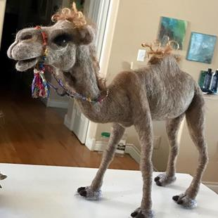 Art: Needle Felted Camel by Artist Ulrike 'Ricky' Martin