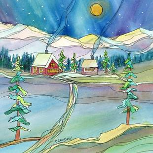 Art: Path to Winter by Artist Kathy Crawshay