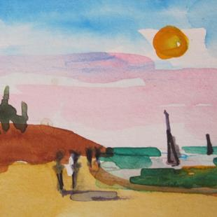Art: Beach Walkers by Artist Delilah Smith
