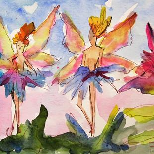 Art: Dancing Fairies by Artist Delilah Smith