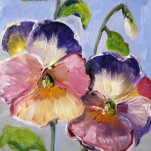 Art: Pansies No. 4 by Artist Delilah Smith