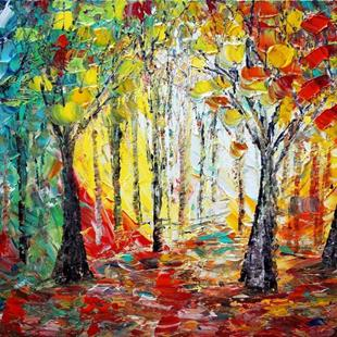 Art: THROUGH THE SEASONS  A WALK IN THE WOODS by Artist LUIZA VIZOLI