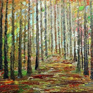 Art: A GORGEOUS DAY in the WOODS Summer to Fall by Artist LUIZA VIZOLI
