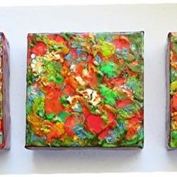 Art: Encaustic Triptych - sold by Artist Ulrike 'Ricky' Martin