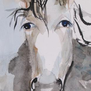 Art: Gray Horse by Artist Delilah Smith