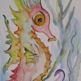 Art: Little Seahorse by Artist Delilah Smith
