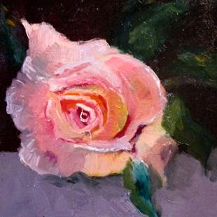 Art: Pink Rose-sold by Artist Delilah Smith