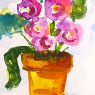 Art: Flowers in a Pot by Artist Delilah Smith