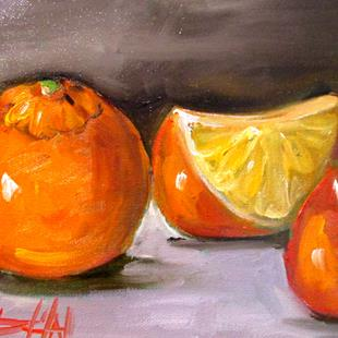 Art: Orange and Slice by Artist Delilah Smith