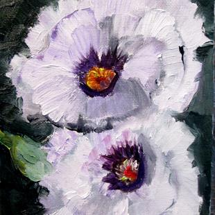 Art: White Poppies by Artist Delilah Smith