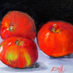 Art: Three Apples by Artist Delilah Smith