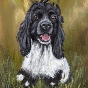 Art: Cocker Spaniel Puppy by Artist Janet M Graham