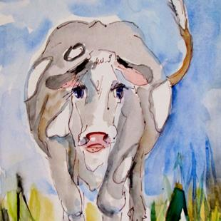 Art: Cow No. 20 by Artist Delilah Smith