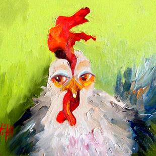 Art: Cluck Cluck by Artist Delilah Smith