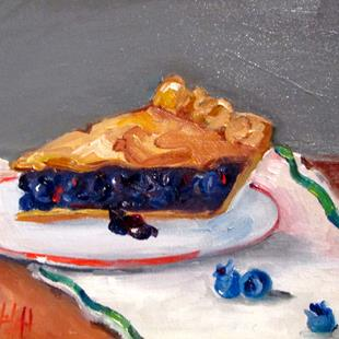 Art: Blueberry Pie by Artist Delilah Smith